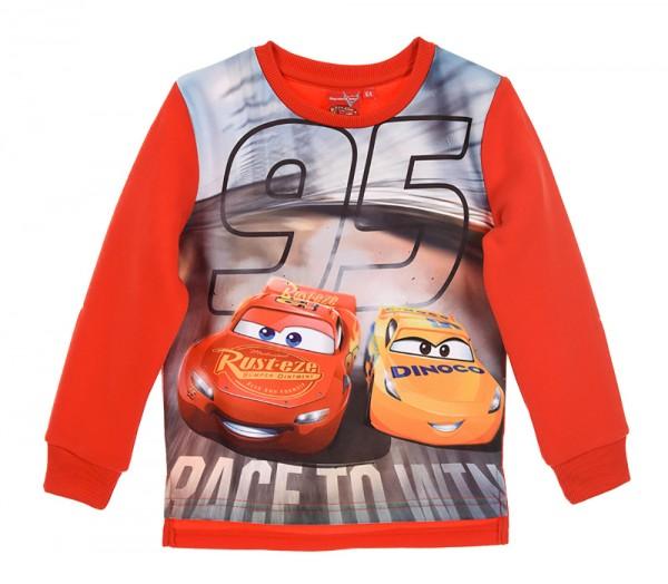 Disney Cars Jungen Sweatshirt Pullover mit Lightning McQueen, rot