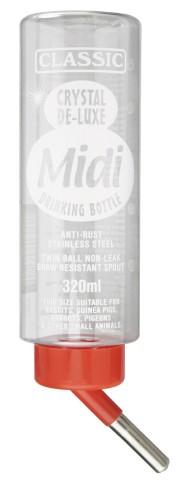 Trinkflasche Classic de Luxe, 320 ml für Nager inkl. Befestigungsdraht