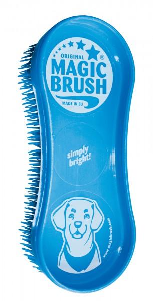 MagicBrush Simply Bright Hundebürste, 16,5 x 6,5 x 3 cm, blue sky