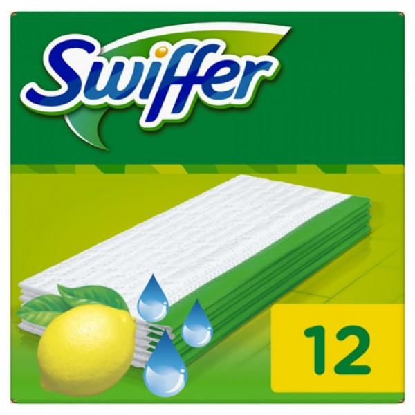 Swiffer Wet Wischtücher Nachfüllpackung, 12 Tücher