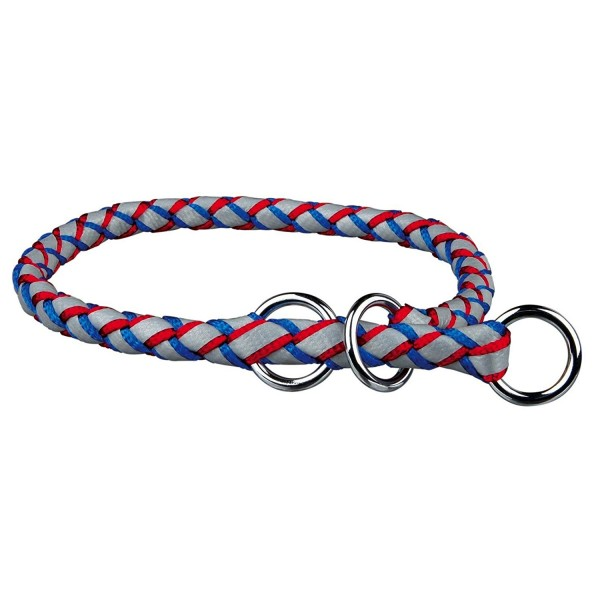 Cavo Reflect LifeSafer Zug-Stopp-Halsband für Hunde, Gr. S-M, blau-rot