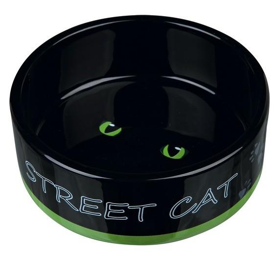 Trixie Keramiknapf Street Cat, 0,3 l/ø 12 cm, diverse Farben