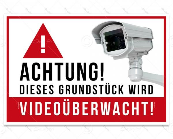 Despri Schild - Videoüberwachung, S0007, 30x20 cm, Aluverbund, 3mm, UV-Lack