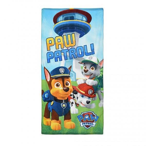Paw Patrol Kinder Strandtuch mit Chase Marshall Rocky, 70x140 cm, hellblau