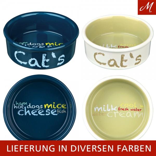 """Trixie Keramiknapf """"Cat's"""" 0,3 l/ø 12 cm, diverse Farben"""