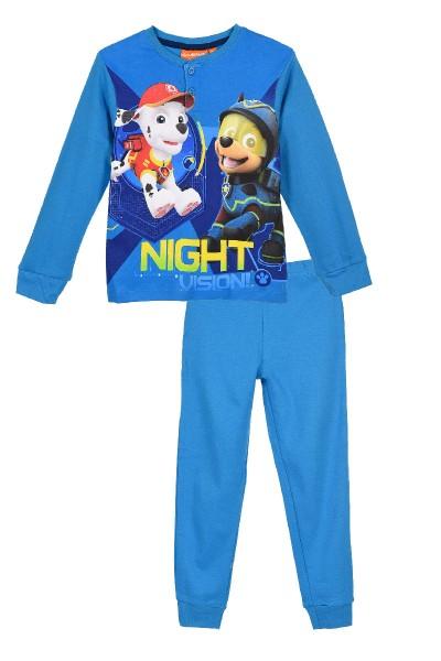 Paw Patrol Jungen Schlafanzug mit Marshall & Chase, 2-teilig, blau