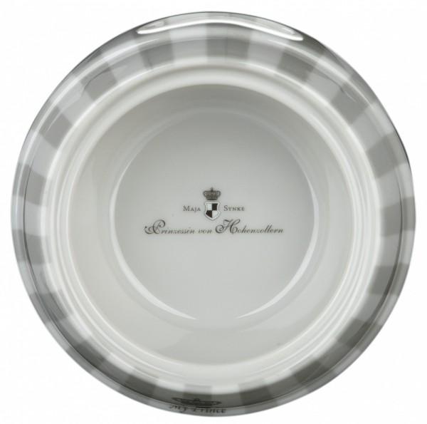Trixie My Prince Kombi-Napf für Hunde, Melamin/Edelstahl -  0,6 l/ø 20 cm, grau/weiß
