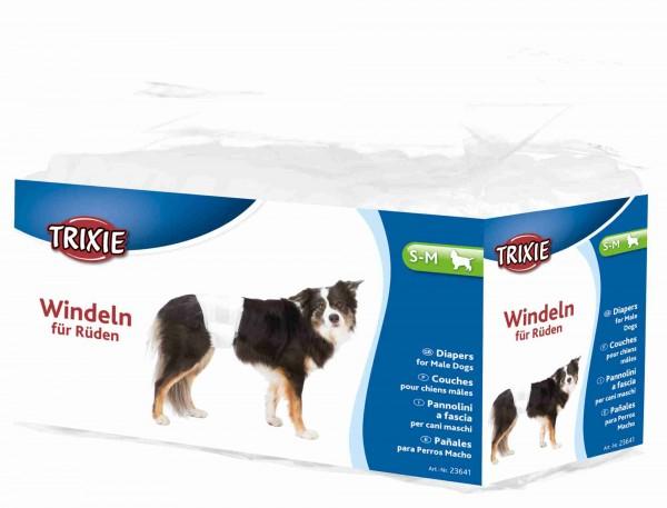 Trixie Rüdenwindeln Hundewindeln Einwegwindeln, S-M, 30-46 cm, 12 Stück