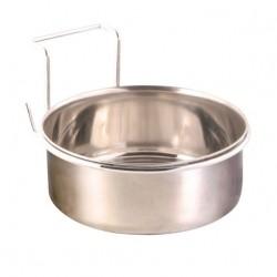 Trixie Edelstahlnapf mit Halter - 150 ml