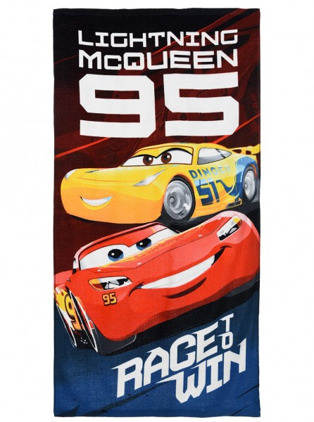 Disney Cars Kinder Badetuch Lightning McQueen & Cruz Ramirez, 70 x 140 cm, blau