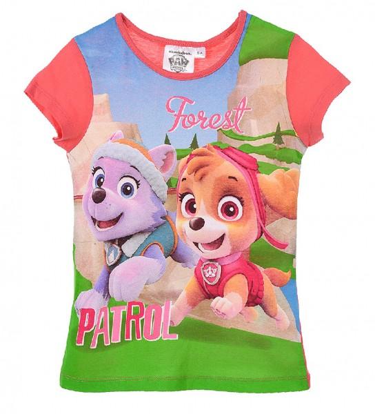 Paw Patrol Mädchen T-Shirt mit Everest & Skye, fuchsia