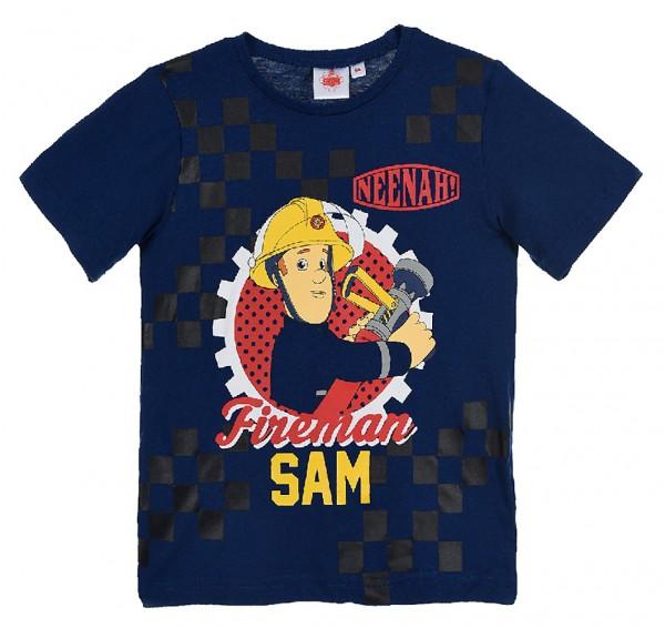 Feuerwehrmann Sam Jungen T-Shirt Kurzarmshirt mit Print, navy