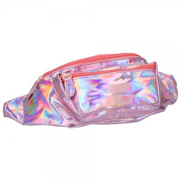 Milky Kiss Gürteltasche Magnifique Holographic mit Reißverschluss, Purple, 14x32x5cm, PU