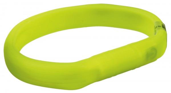 USB Flash Leuchtband für Hunde, grün, Silikon, M-L, 50 cm/18 mm