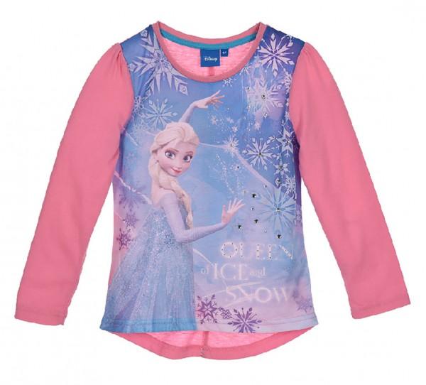Disney Frozen Kinder Langarmshirt Elsa mit Schmucksteinen, pink