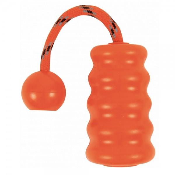 Trixie Mot-Fun Hunde Motivationsspielzeug aus Naturgummi, 9 cm, orange