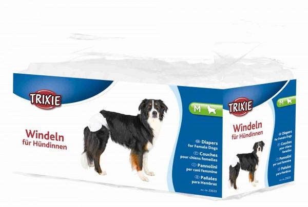 Trixie Windeln für Hündinnen Hundewindeln, M, 32-48 cm, 12 Stück