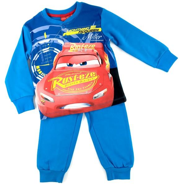 Disney Cars Jungen Schlafanzug mit Lightning McQueen, 2-teilig, blau