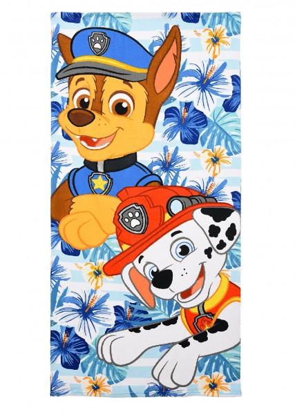 Paw Patrol Kinder Badetuch Strandtuch mit Chase & Marshall, 70 x 140 cm, blau