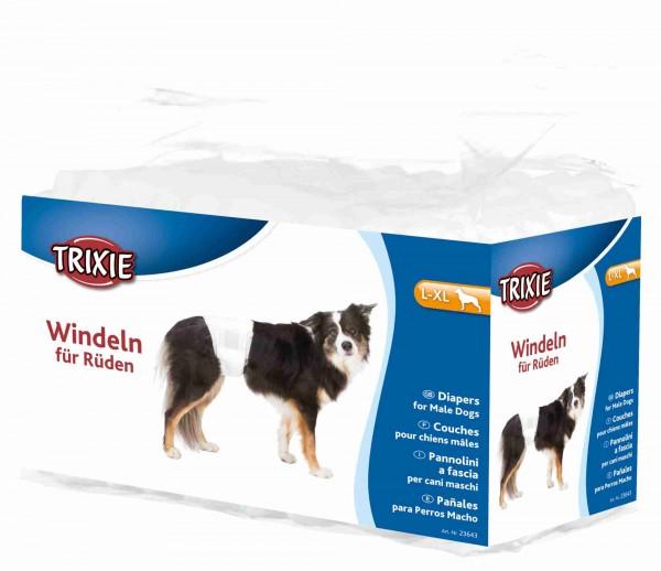 Trixie Rüdenwindeln, Hundewindeln - Einwegwindeln - L-XL, 60-80 cm, 12 Stück