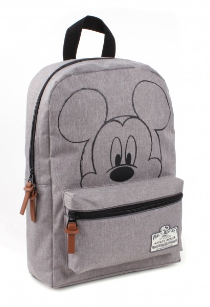 Disney Mickey Mouse 90th Anniversary - Rucksack, 33x23x12cm, Polyester, Grau