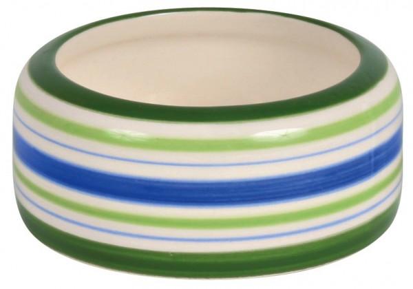 Trixie Keramiknapf, Hamster, 50 ml/ø 8 cm, grün/blau/creme