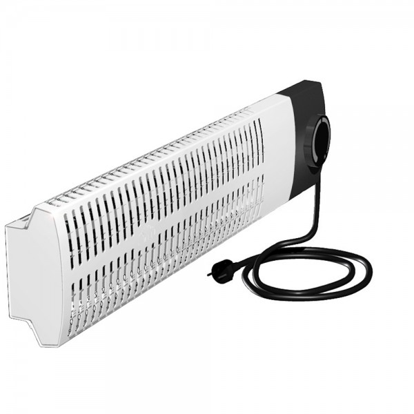 Miniradiator Frostwächter FML200, Front weiß, 200W, Horizontale Wandmontage