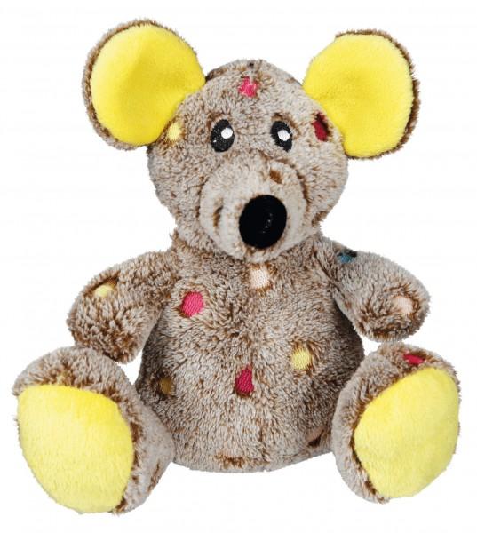 TRIXIE Hundespielzeug Maus Plüsch mit Stimme 17 cm