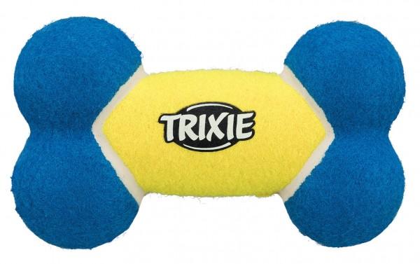Trixie Hundespielzeug Tennisknochen, 17 cm, schwimmt