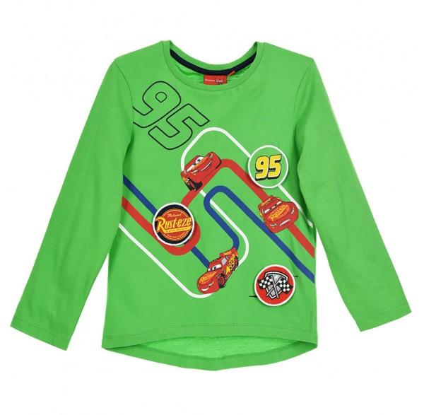 Disney Cars Kinder Langarmshirt mit Lightning McQueen Motiv, grün