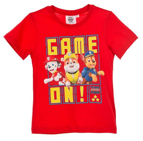 Paw Patrol T-Shirt für Jungen mit Marshall Rubble & Chase, rot