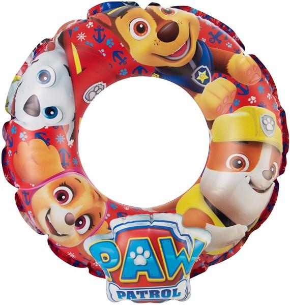 Paw Patrol 3D Aufblasbarer Schwimmreifen für 3-6 Jahre, Ø 46 cm, rot