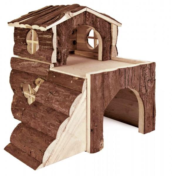 Trixie Natural Living Meerschweinchenhaus Bjork, zweistöckig, 31x28x29 cm