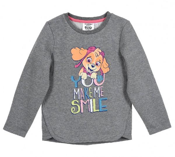 Paw Patrol Mädchen Sweatshirt Pullover mit Skye Motiv, grau