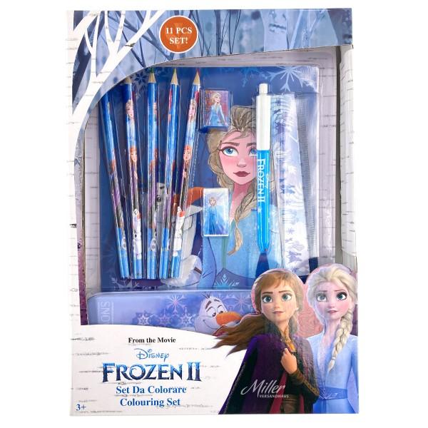 """Disney """"Frozen 2"""" Kinder Malset Schreibset mit Stiftebox, 11-teilig"""