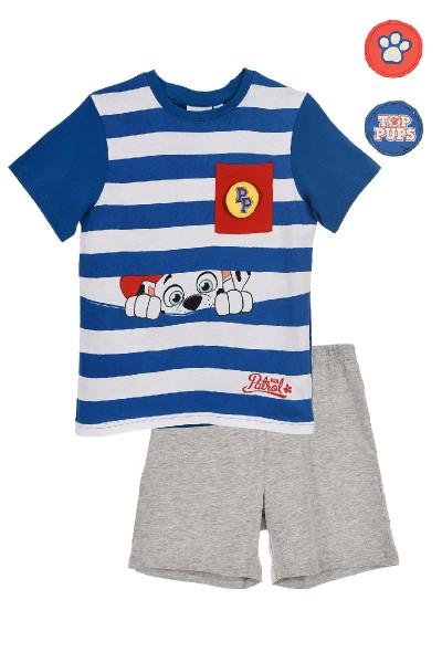 Paw Patrol Jungen Schlafanzug mit Marshall Motiv, 2-teilig, blau