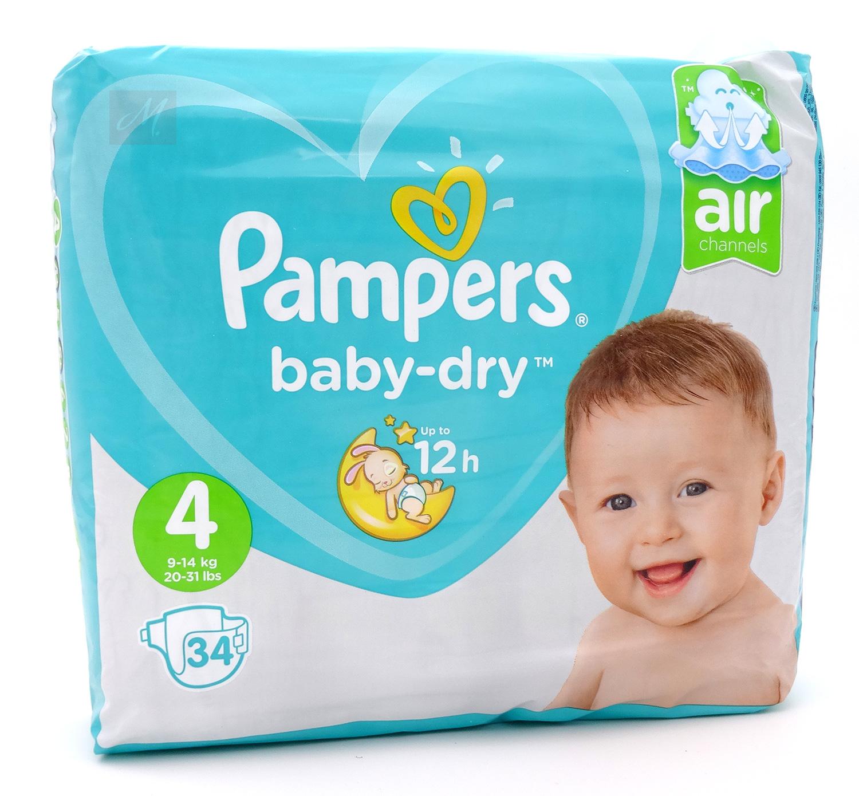 pampers baby dry windeln gr e 4 maxi 9 14 kg 1x 34. Black Bedroom Furniture Sets. Home Design Ideas
