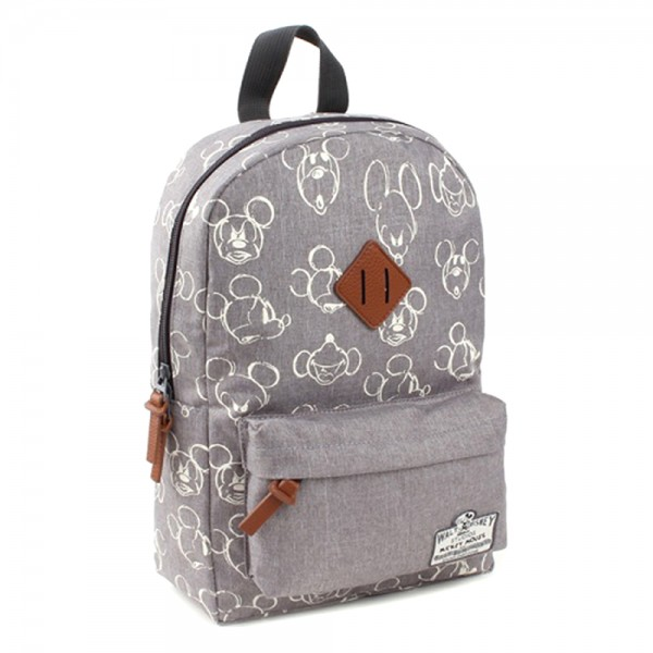 Disney Mickey Mouse 90th Anniversary - Rucksack, 34x23x13cm, Polyester, Grau