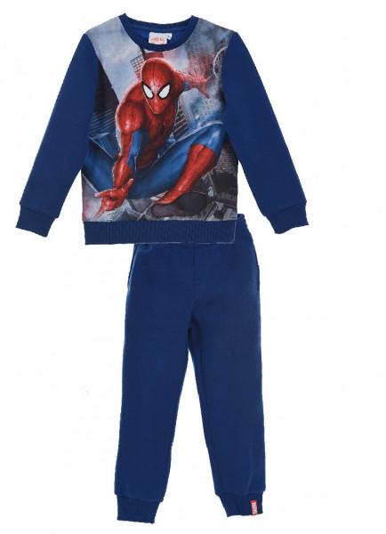 Spider-Man Jungen Jogginganzug Sweatshirt Hose, 2-teilig, blau