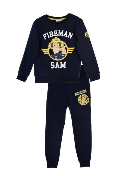 Feuerwehrmann Sam Jungen Jogginganzug Sweatshirt Hose, 2-teilig, navy