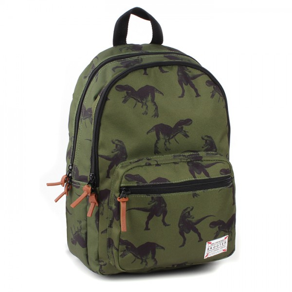 Skooter Rucksack Animal Kingdom mit Tablet-Fach, 38x26x13,5 cm, Olive