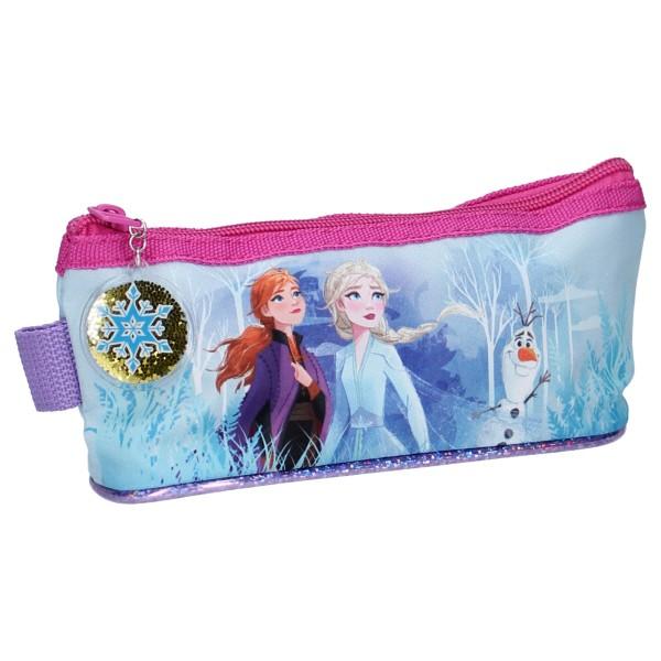 Disney Frozen 2 Sparkling Snow Federmäppchen mit Anna & Elsa, 9x20x7cm, blau