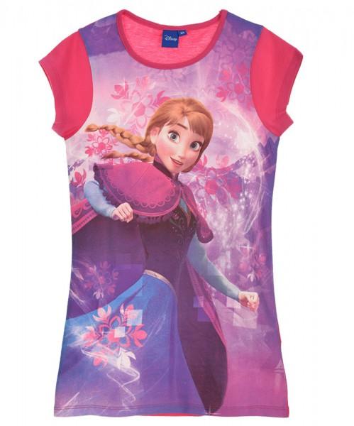 Disney Frozen Mädchen Longshirt Kleid Pyjama mit Anna Motiv, fuchsia
