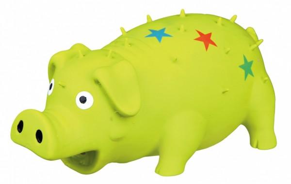 Trixie Hundespielzeug Schwein, Latex, 16 cm, diverse Farben