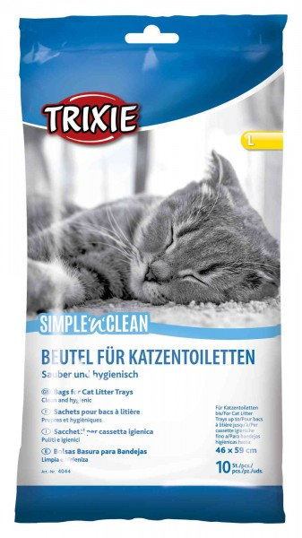 Trixie Katzentoiletten Beutel L, bis 46 x 59 cm, 10 Stück