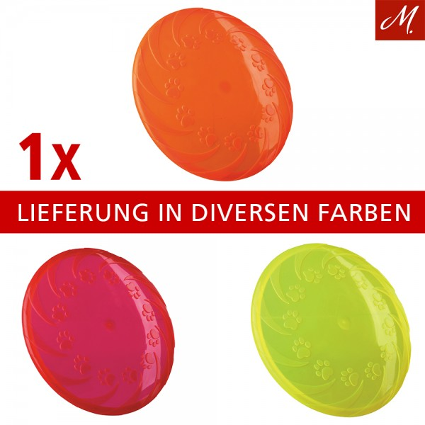 Trixie Dog Disc Frisbee, TPR, schwimmt - 18 cm, diverse Farben