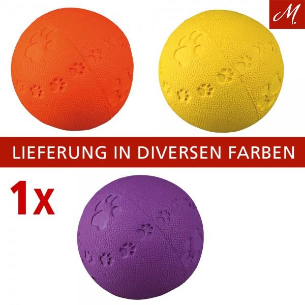 Trixie Hunde Spielball mit Stimme aus Naturgummi, ø 6 cm, diverse Farben