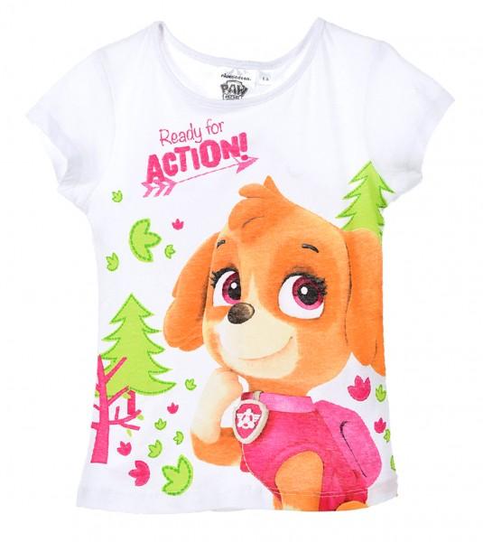 Paw Patrol Mädchen T-Shirt mit Skye Motiv, weiß