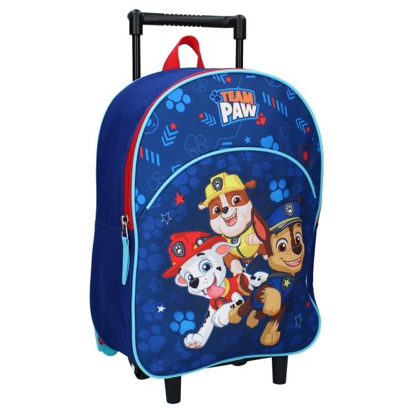 Paw Patrol Kinder Trolley-Rucksack Kinderkoffer, 33x25x10 cm, blau