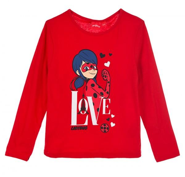 Miraculous Ladybug Kinder Langarmshirt mit Motiv, rot